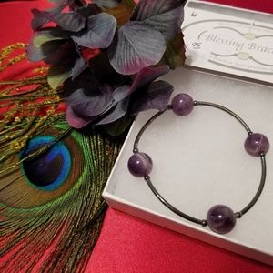 Purple Charoite and Sterling bracelet